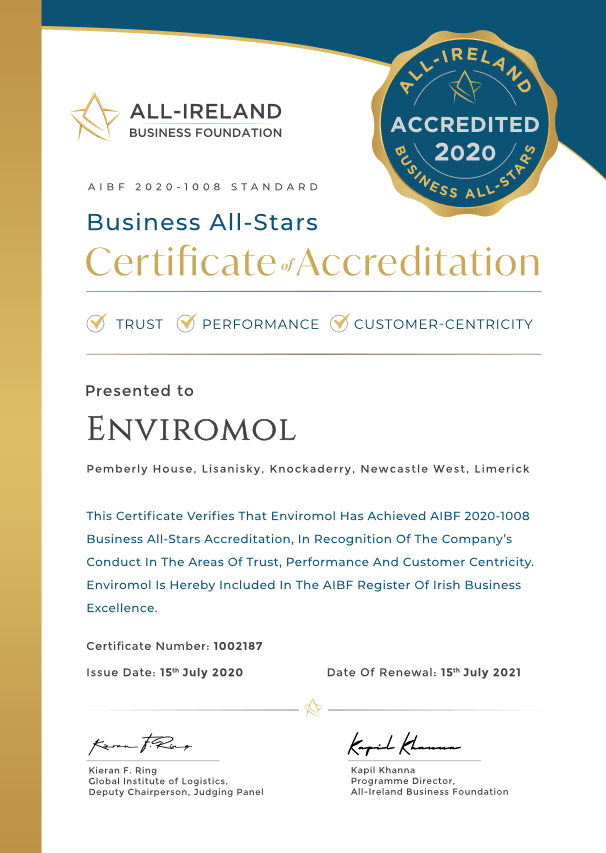 Enviromol All-Stars Award